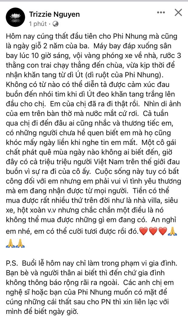 Lễ cúng thất đầu của ca sĩ Phi Nhung ở Mỹ: Con gái ruột và vợ cũ Bằng Kiều đội tang, Thanh Thảo - Thu Hoài cùng dàn sao Việt đến chia buồn-2