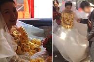 Cô dâu đeo 60 chiếc vòng vàng trong đám cưới gây xôn xao