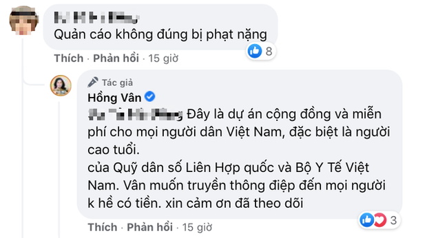 Bị nghi tiếp tục nhận quảng cáo sản phẩm kém chất lượng để kiếm tiền, NS Hồng Vân lên tiếng làm rõ-4