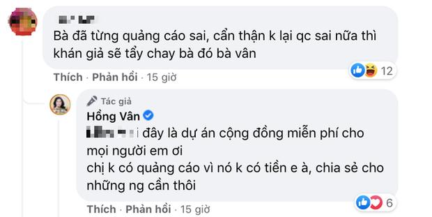 Bị nghi tiếp tục nhận quảng cáo sản phẩm kém chất lượng để kiếm tiền, NS Hồng Vân lên tiếng làm rõ-3