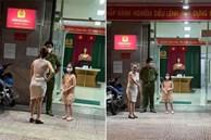 Lại thấy 'chị đại quận 4' không đeo khẩu trang đứng chống nạnh trước trụ sở công an