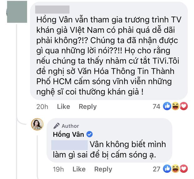 Bị khán giả đề nghị cấm sóng, NS Hồng Vân phản hồi: Vân không biết mình đã làm gì sai-2