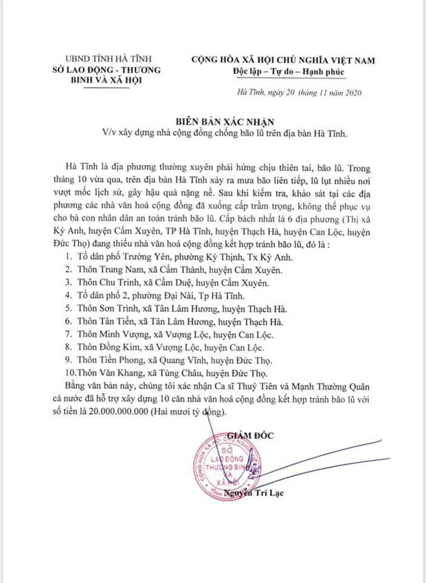 Chính quyền Hà Tĩnh xác nhận đã nhận hơn 40 tỷ đồng từ tiền Thuỷ Tiên quyên góp, so với sao kê liệu có trùng khớp?-4