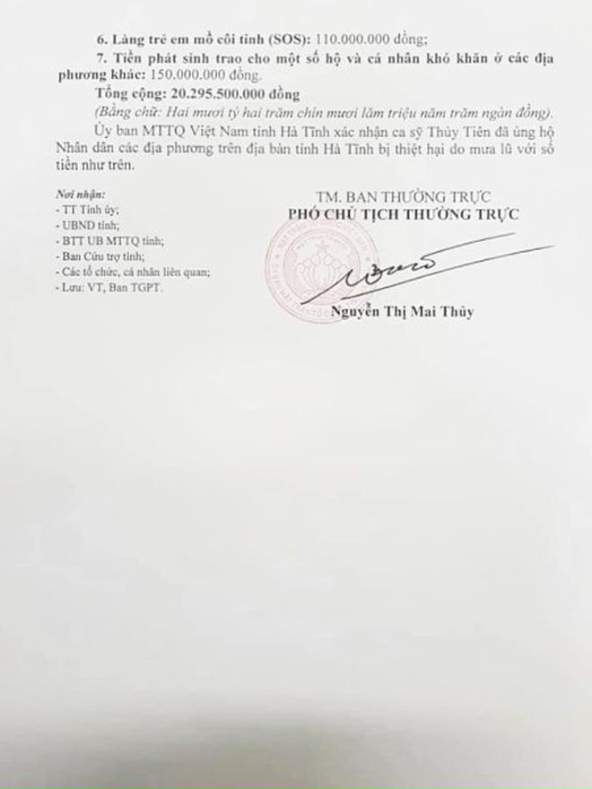Chính quyền Hà Tĩnh xác nhận đã nhận hơn 40 tỷ đồng từ tiền Thuỷ Tiên quyên góp, so với sao kê liệu có trùng khớp?-3