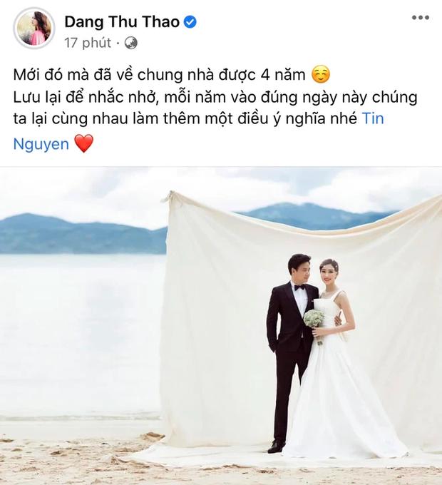Hoa hậu Đặng Thu Thảo có động thái đặc biệt trong ngày kỷ niệm cưới, đủ để thấy tình trạng hôn nhân với ông xã đại gia-1