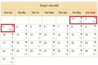 Tết Dương lịch 2022 được nghỉ mấy ngày?