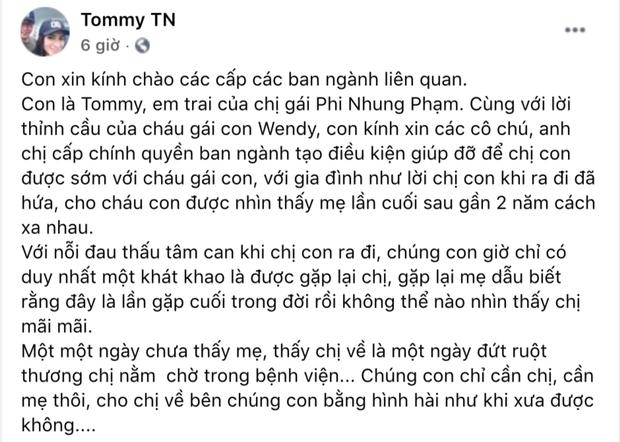 Em trai ca sĩ Phi Nhung: 1 ngày chưa thấy chị về là 1 ngày đứt ruột thương chị nằm chờ trong bệnh viện-1