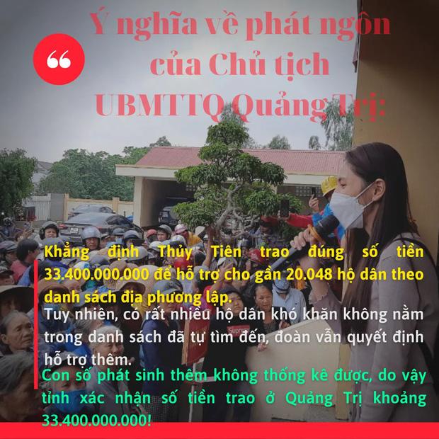 Phía Thuỷ Tiên làm rõ lý do không thống kê được chính xác số tiền từ thiện ở Quảng Trị?-3