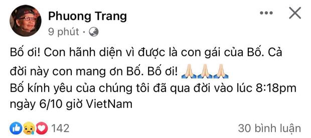 Bố nghệ sĩ Hoài Linh qua đời, Dương Triệu Vũ, Đàm Vĩnh Hưng và các sao Việt nghẹn ngào tiễn biệt-1