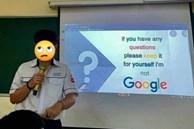 Nam sinh thuyết trình xong để lại một câu 'chí mạng' trên màn hình, tụi bạn hay lăm le phản biện, tranh luận chắc tức lắm!