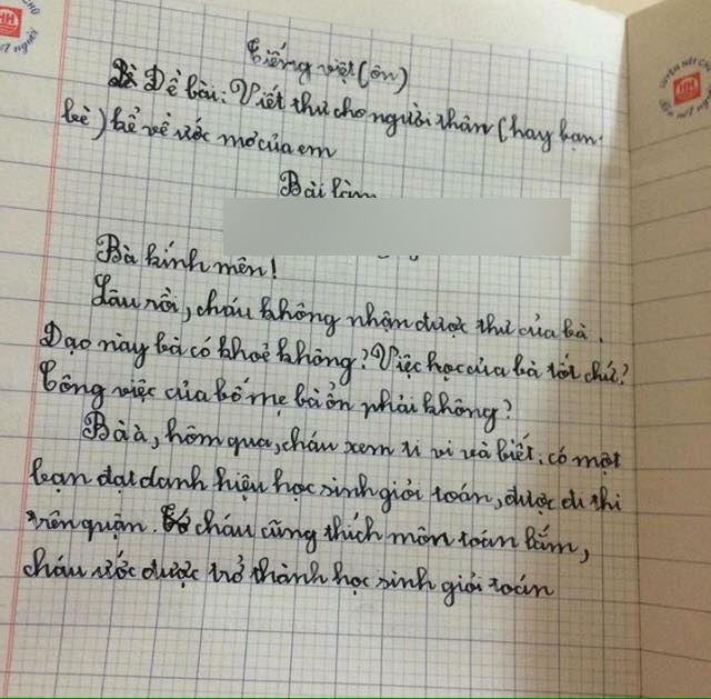 Học sinh tiểu học viết thư hỏi thăm bà, đọc đến câu thứ 3 ai nấy ngã ngửa: Bà thế này con cháu nào chạy theo kịp!-1