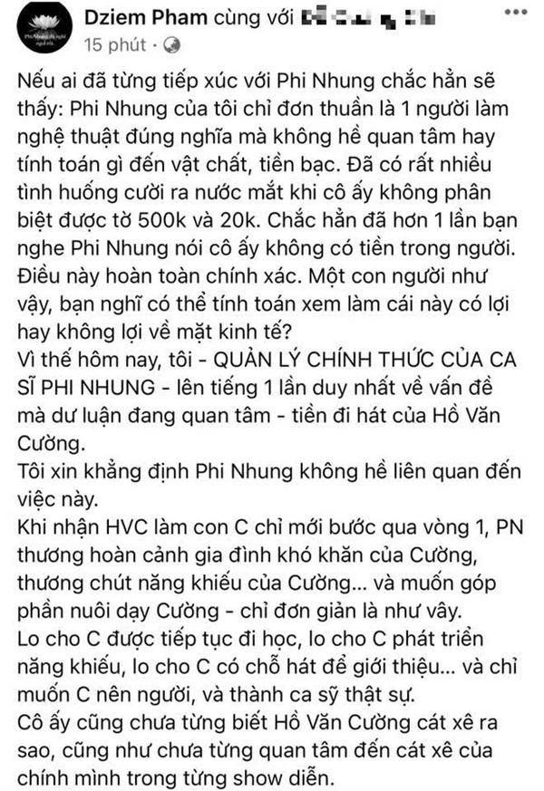 1 trong 23 con nuôi Phi Nhung lên tiếng bảo vệ mẹ giữa ồn ào uỷ quyền đòi cát-xê của Hồ Văn Cường-2