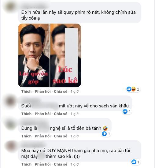 """Trấn Thành vừa đăng ảnh làm MC Rap Việt, netizen vào cà khịa"""" không thương tiếc, cả Công Vinh - Thủy Tiên cũng bị nhắc-2"""