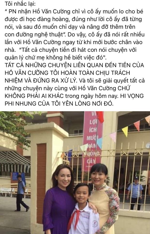 Bài tuyên bố giải quyết chuyện tiền với Hồ Văn Cường của quản lý Phi Nhung tưởng biến mất nhưng hóa ra là do nguyên nhân này-2
