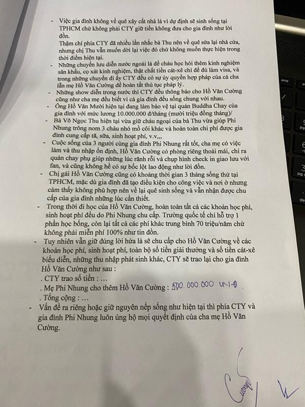 Giấy tờ có chữ ký chính chủ làm sáng tỏ loạt tin đồn: Cát xê, học phí của Hồ Văn Cường, tại sao bố mẹ không xây nhà ở quê?-1
