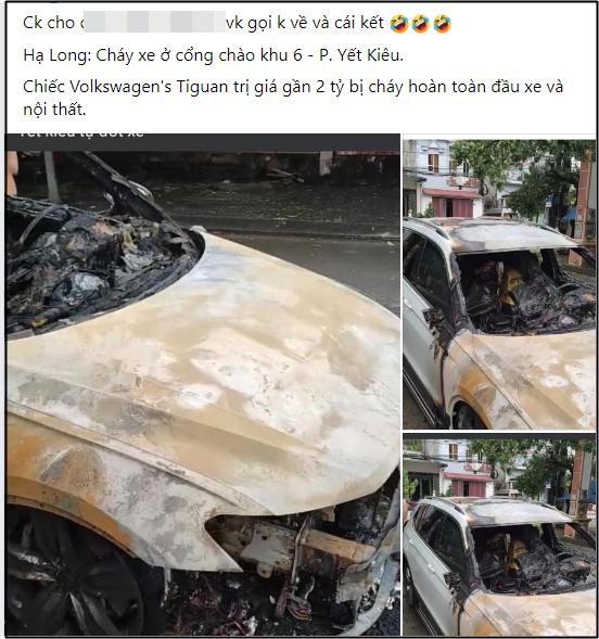 Xôn xao câu chuyện chồng ngoại tình, vợ gọi về không được nên đốt cháy xe hơi 2 tỷ tại Quảng Ninh: Nhìn hiện trường chiếc xe mà tất cả lắc đầu ngao ngán-1