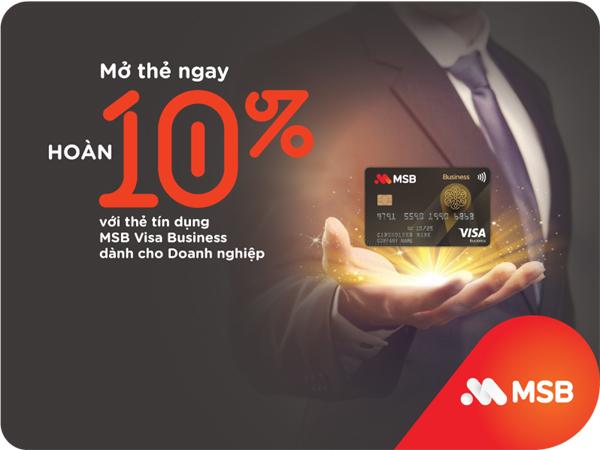 Ra mắt thẻ tín dụng MSB Visa Business, nhiều ưu đãi hấp dẫn-1