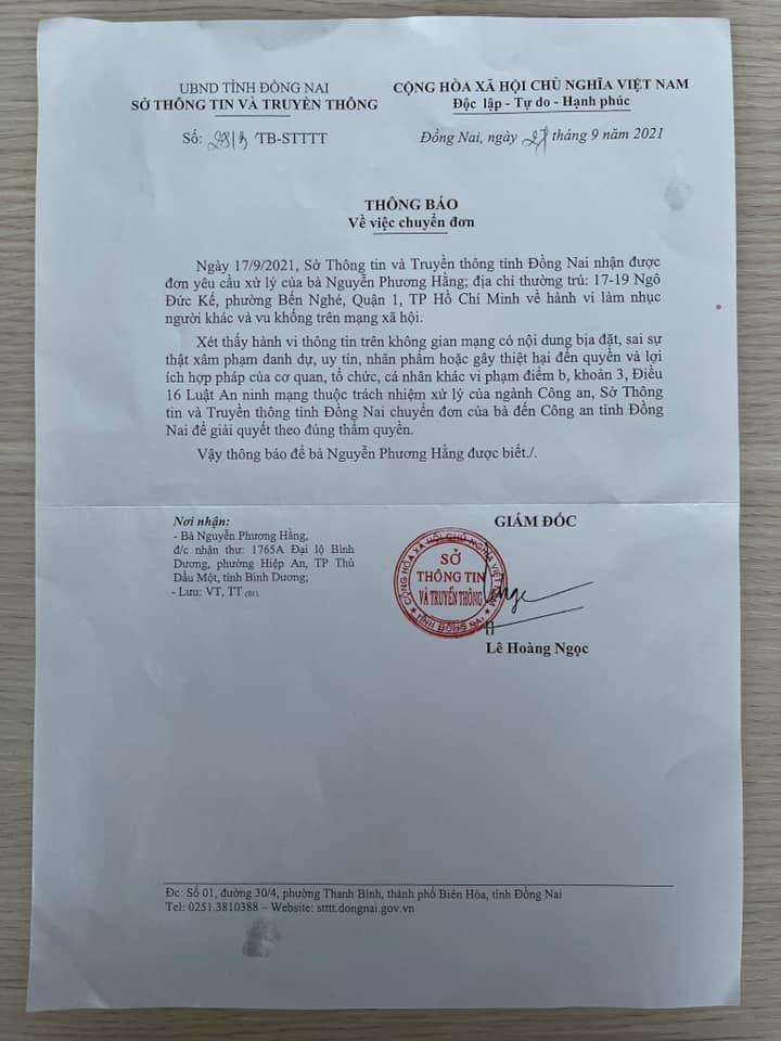 Hay tin bà Hằng gửi đơn khiếu nại mình, nhà báo Hàn Ni vào thẳng Facebook của trợ lý bà Hằng phản ứng gây bất ngờ-1