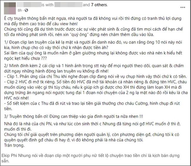Clip mẹ ruột Hồ Văn Cường lên tiếng về thông tin bị ép làm theo kịch bản chứ chưa nhận được tiền-1