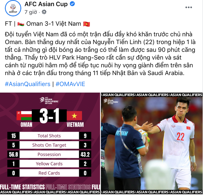 Fan Việt tấn công page của AFC, phẫn nộ vì AFC đăng bài động viên ĐT Việt Nam nhưng ở chế độ tuỳ chỉnh-3