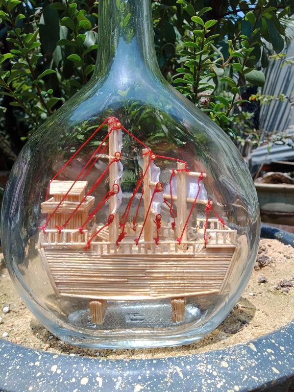 Trang trí cho chai thủy tinh vứt đi, 9x bán hàng triệu đồng/sản phẩm-6