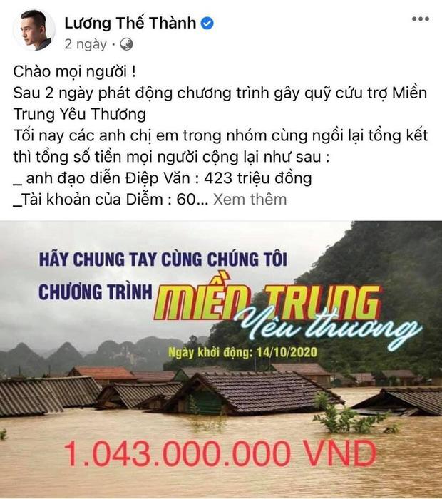 Lương Thế Thành - Thuý Diễm bất ngờ bị CEO Đại Nam gọi tên vì kêu gọi quyên góp từ thiện 1 tỷ đồng nhưng im re?-2
