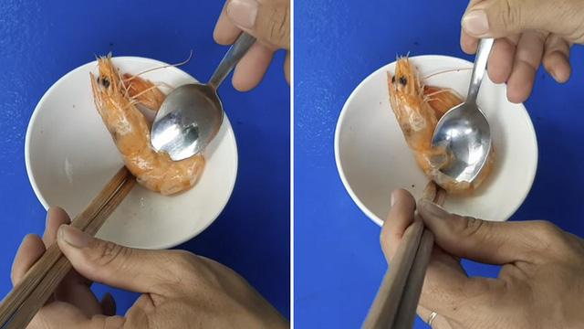 Cách bóc vỏ tôm chín không bị nóng và dây bẩn, còn được khen là khéo léo, duyên dáng khi đi ăn cỗ-5