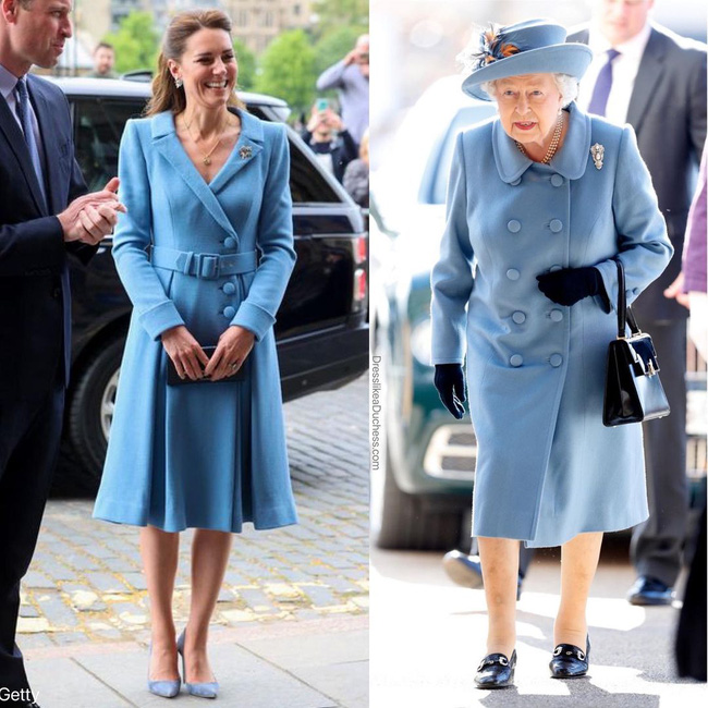 Nhìn những lần Công nương Kate diện đồ hao hao Nữ hoàng Anh, dân tình khen cô đã rất ra dáng Hoàng hậu tương lai-1