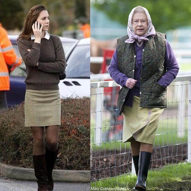 Nhìn những lần Công nương Kate diện đồ hao hao Nữ hoàng Anh, dân tình khen cô đã rất ra dáng Hoàng hậu tương lai-6