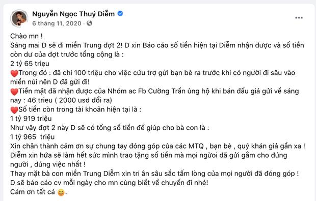 Thuý Diễm chính thức lên tiếng sau khi bị CEO Đại Nam gọi tên vào drama sao kê tiền từ thiện miền Trung!-2