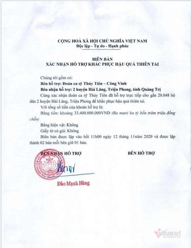 7 tỉnh miền Trung được Bộ Công an yêu cầu rà soát về hoạt động từ thiện của ca sĩ Thủy Tiên nói gì?-6