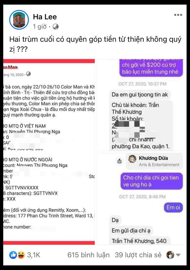 Quản lý bà Phương Hằng đăng status ẩn ý hai trùm cuối của drama từ thiện, trong đó xuất hiện các thông tin được cho là đạo diễn Khương Dừa?-1