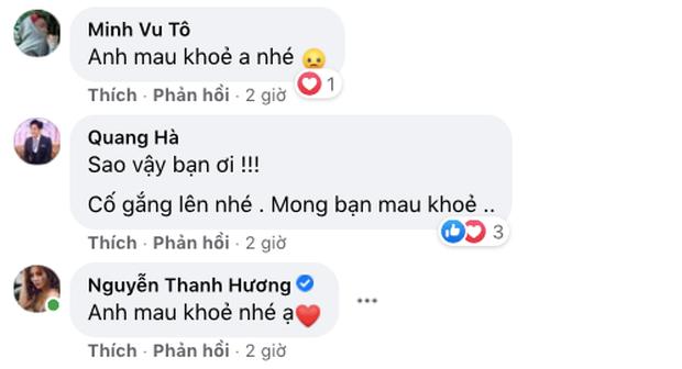 Một nam ca sĩ phải nhập viện phẫu thuật, Quang Hà, Phương Oanh và dàn sao vô cùng lo lắng-3