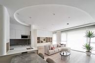 Căn hộ hình vòng cung mềm mại và độc đáo, đem đến không gian nghỉ dưỡng tuyệt vời, tiếp năng lượng sống cho gia chủ