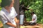 Nữ sinh lớp 7 bị bắt quỳ gối, đánh đến chảy máu mũi