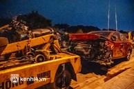 Hà Nội: 5 xe va chạm liên hoàn trong đêm, nạn nhân văng từ mặt đường xuống chân đê
