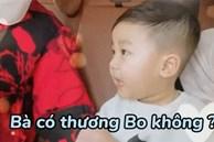 Cuộc hội thoại ngắn giữa bé Bo và bà nội chứng tỏ một điều: Hoà Minzy thành công trong vai trò người mẹ!