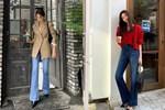 Kiểu quần jeans đang hot ngang ngửa jeans ống rộng: Sang chảnh, kéo chân tít tắp